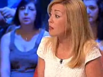Paloma Zorrilla, durante una tertulia en La Sexta Noche