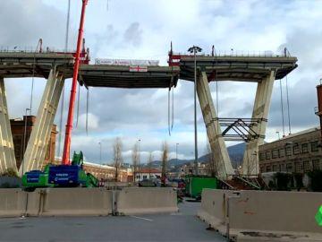 Comienza la demolición del puente Morandi en Génova, donde murieron 43 personas