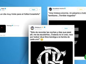 Pelé, Ronaldinho, Vinicius... el fútbol brasileño llora la tragedia del Flamengo