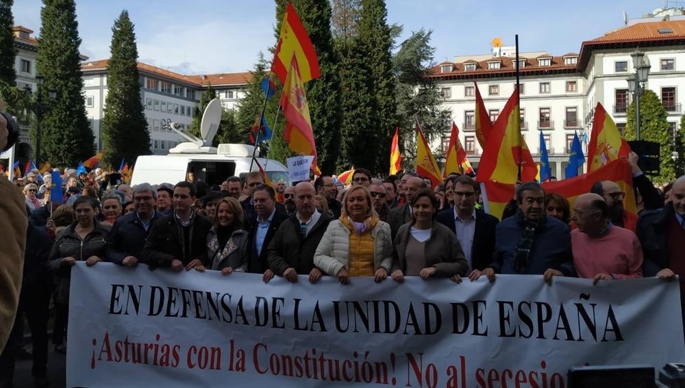 Manifestación por la unidad de España en Oviedo