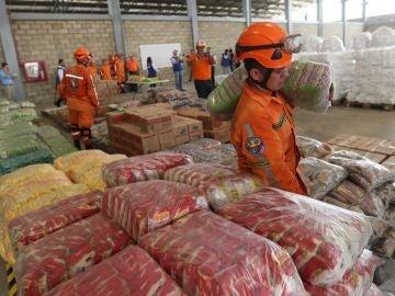 Imagen de la ayuda humanitaria para Venezuela