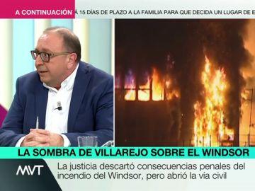 ¿Cuál es la relación entre el excomisario Villarejo y el incendio del edificio Windsor?