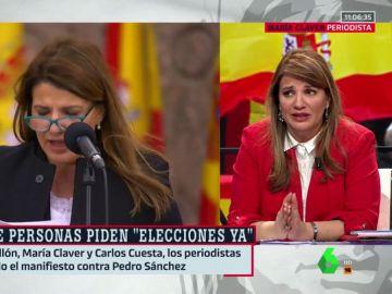 """María Claver insiste en la veracidad del manifiesto contra Pedro Sánchez: """"Yo hubiera escrito lo mismo"""""""