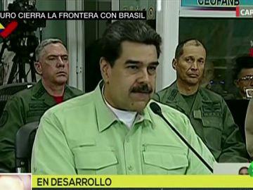Nicolás Maduro ordena el cierre de la frontera con Brasil para impedir la entrada de ayuda humanitaria