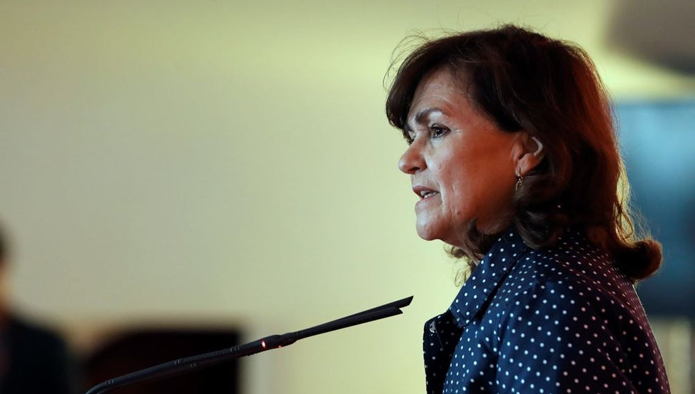 Carmen Calvo en la convención del Partido Socialista Europeo