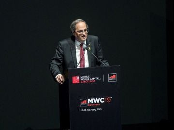 Quim Torra interviene en el Mobile World Congress