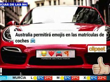Australia permitirá poner emojis en las matrículas de los coches