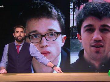 """Dani Mateo destapa el secreto oculto de Errejón: """"Más que su hermano parece su retuit"""""""