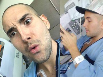 Adrián, enfermo de leucemia