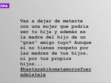 """Alba Carrillo sale en defensa de Courtois tras las burlas de Kiko Matamoros: """"Te tienes que ocupar de otras cosas, machista"""""""