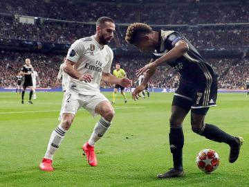 Carvajal, durante el partido del Madrid ante el Ajax