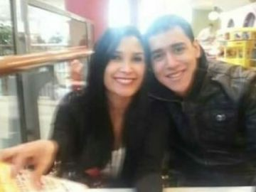 Diana Acevedo y su marido