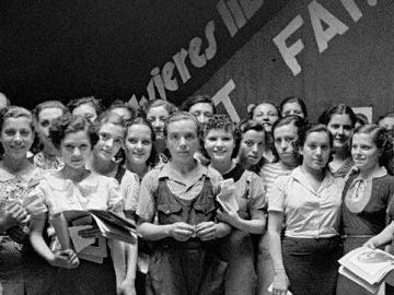 Mujeres anarquistas que componían la agrupación Mujeres Libres
