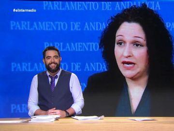 """El zasca de Dani Mateo a la diputada de Vox que asegura que el rescate de migrantes es un """"servicio de autobús"""": """"Se subirá en el de Hazte Oír"""""""