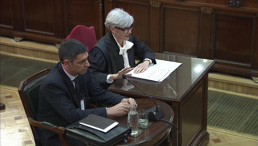 Josep Lluís Trapero durante su declaración