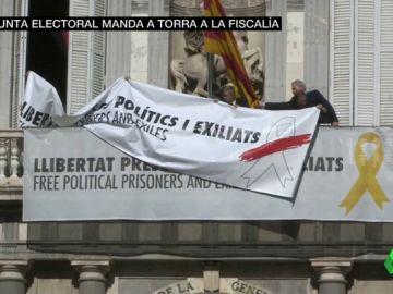 La Junta Electoral Central denuncia a Torra ante la Fiscalía y pide a los Mossos que retiren los símbolos independentistas