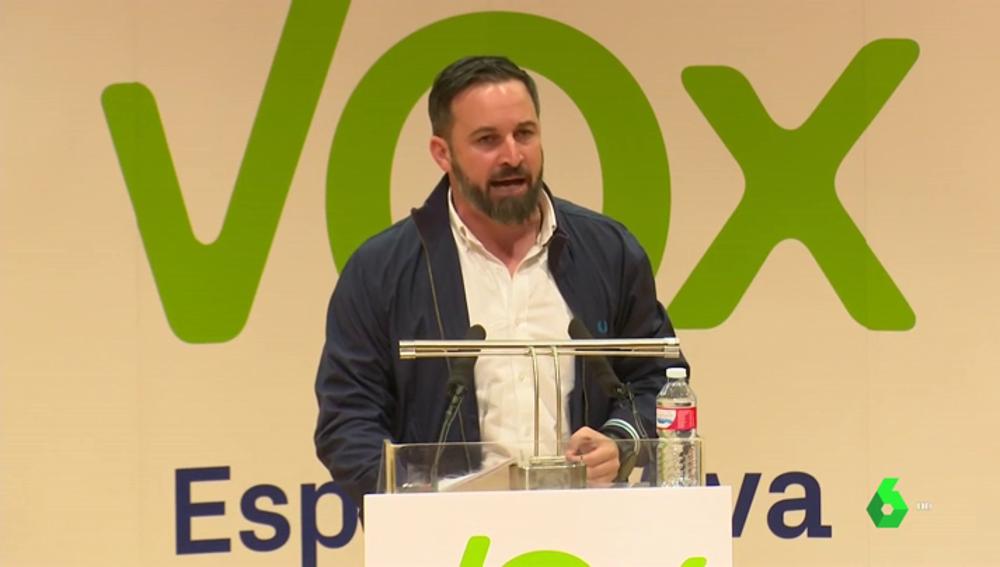 Santiago Abascal en un acto en Ciudad Real