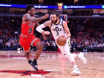 Ricky Rubio, en acción ante los Bulls