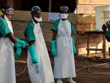 Personal de Médicos Sin Fronteras en República Democrática del Congo.