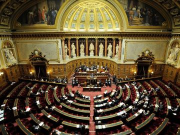 Vista general del Senado francés en una imagen de archivo.
