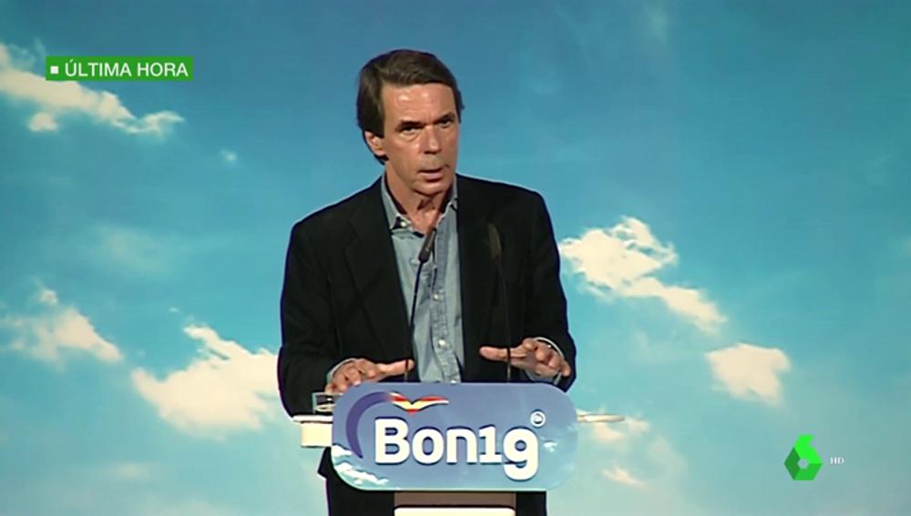 """Aznar: """"A mí, mirándome a la cara, nadie me habla de una derechita cobarde porque no me aguanta la mirada"""""""