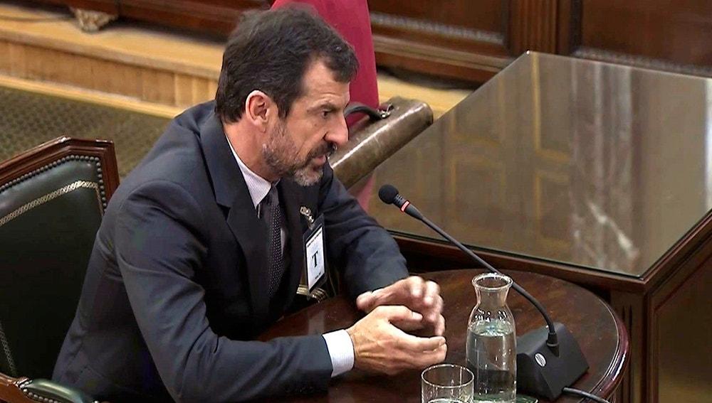 El comisario de los Mossos d'Esquadra Ferran López en el juicio del 'procés'