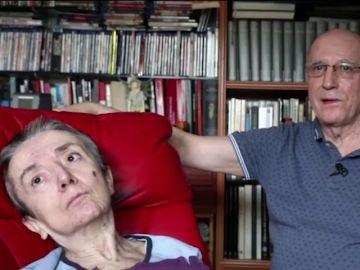 María José Carrasco y su marido, Ángel Hernández, que la ayudó a morir