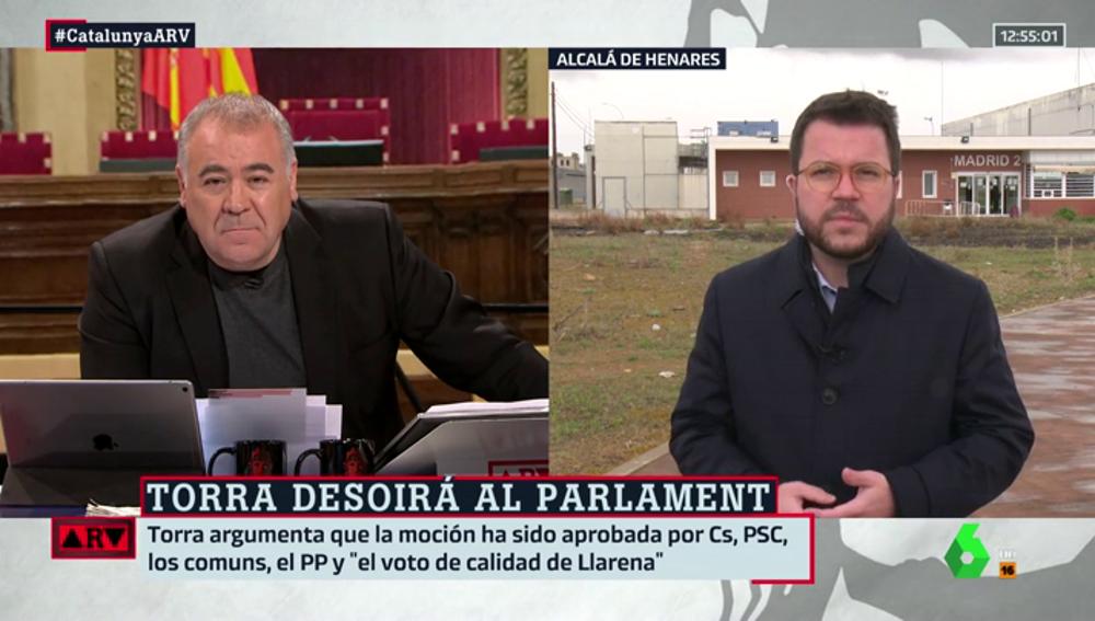 """Pere Aragonés analiza los resultados del CIS catalán: """"No solo son los escaños, es que un 78% de la ciudadanía cree que la solución es el referéndum"""""""