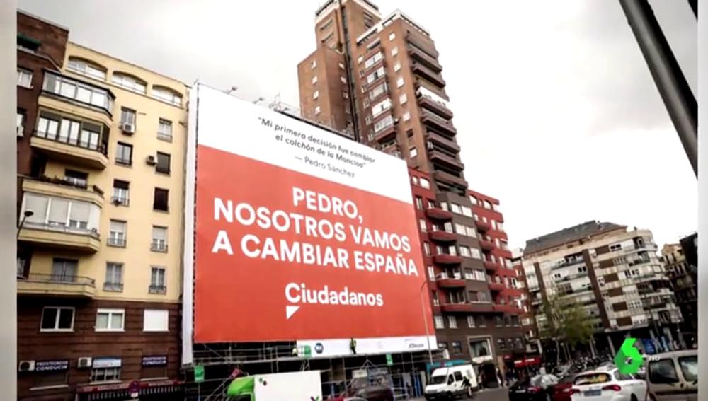 Pancarta de Ciudadanos en Madrid