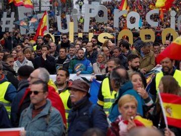 Imagen de la manifestación de la Jusapol en Madrid