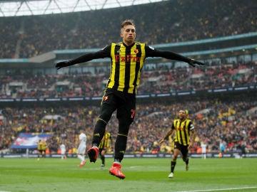 Gerard Deulofeu celebra uno de sus goles con el Watford