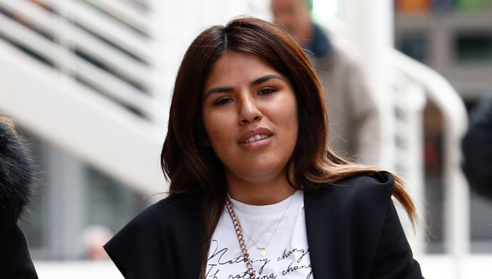 Isa Pantoja a su llegada al juzgado en Madrid