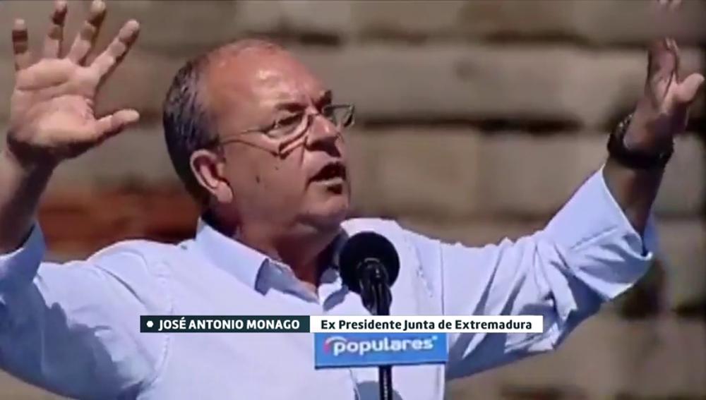 """""""A mí me gusta Camela"""": la sorprendente nueva arma electoral de Monago en un mitin del PP"""