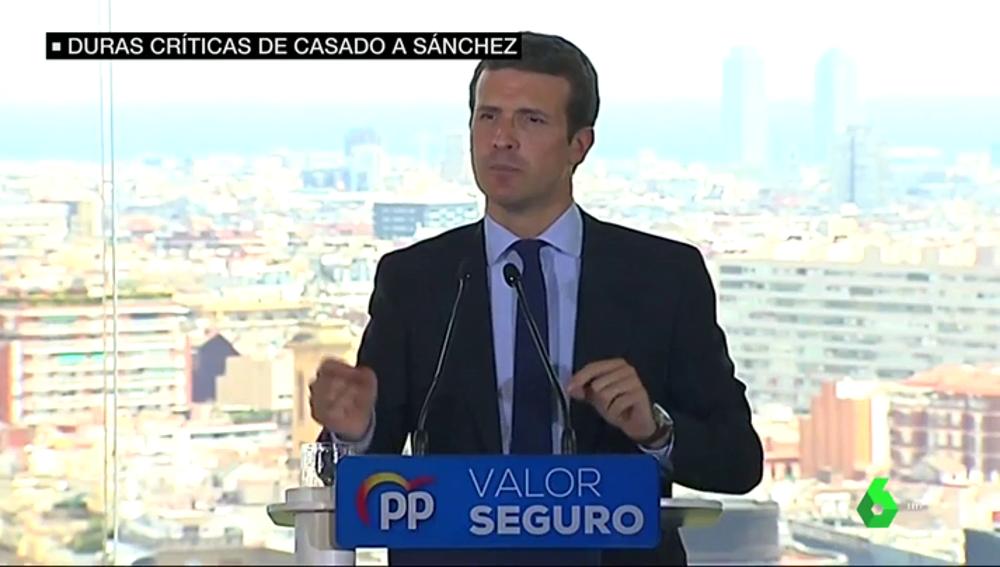 """Pablo Casado acusa a Pedro Sánchez por apoyarse en """"proetarras"""": """"Prefiere manos manchadas de sangre a manos pintadas de blanco"""""""