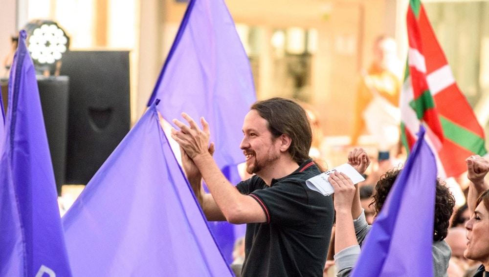 Pablo Iglesias en un acto en Bilbao