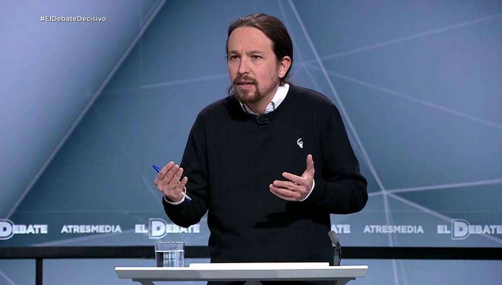 """Pablo Iglesias: """"Si la gente vota gobiernos diferentes, se tendrán que buscar acuerdos para gobernar juntos"""""""