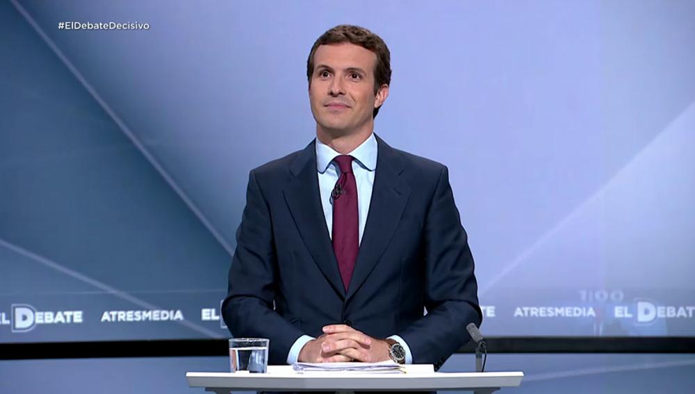 """Pablo Casado: """"El PP es el único partido que no ha pactado con Sánchez"""""""