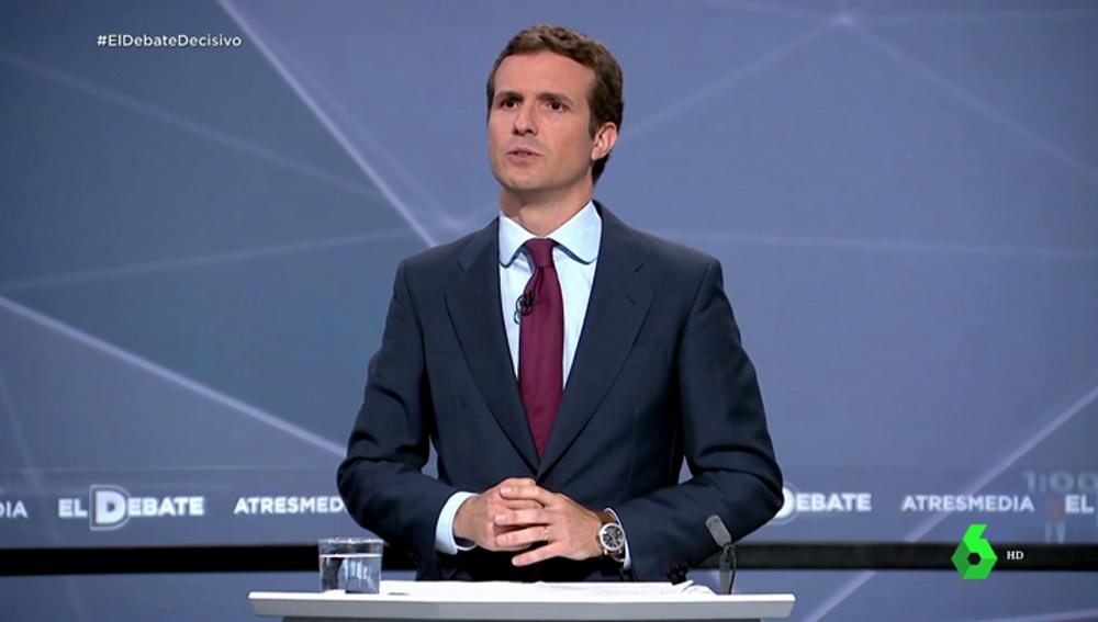 Pablo Casado en el Debate de Atresmedia
