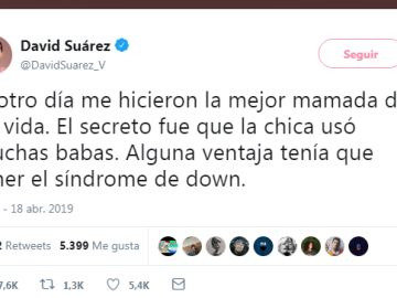 El polémico tuit de David Suaréz