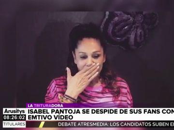 El emotivo vídeo de Isabel Pantoja con el que se despide de sus fans al borde del llanto