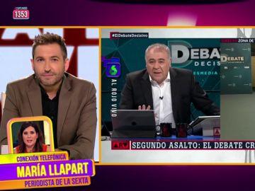 """María Llapart explica cómo se vivió el debate detrás de las cámaras: """"Cuando un candidato hacía algo bien, los asesores aplaudían"""""""