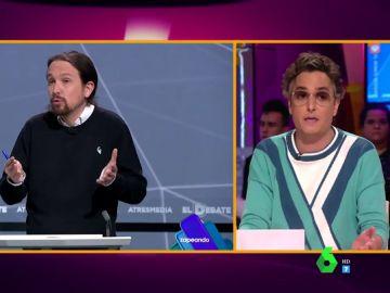 """El consejo de Josie a Pablo Iglesias: """"Yo no renunciaría a la coleta, pero no tiene por qué llevarla tan maltrecha"""""""