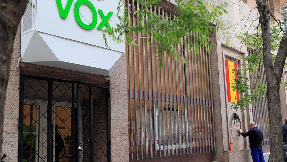 Fachada de la sede de Vox en Madrid