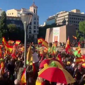Acto de Vox en la madrileña Plaza de Colón