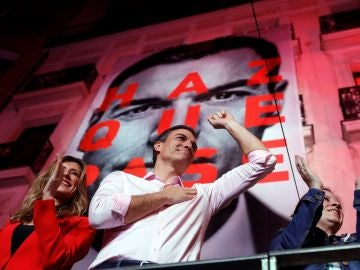 El candidato a la presidencia del Gobierno por el PSOE, Pedro Sánchez