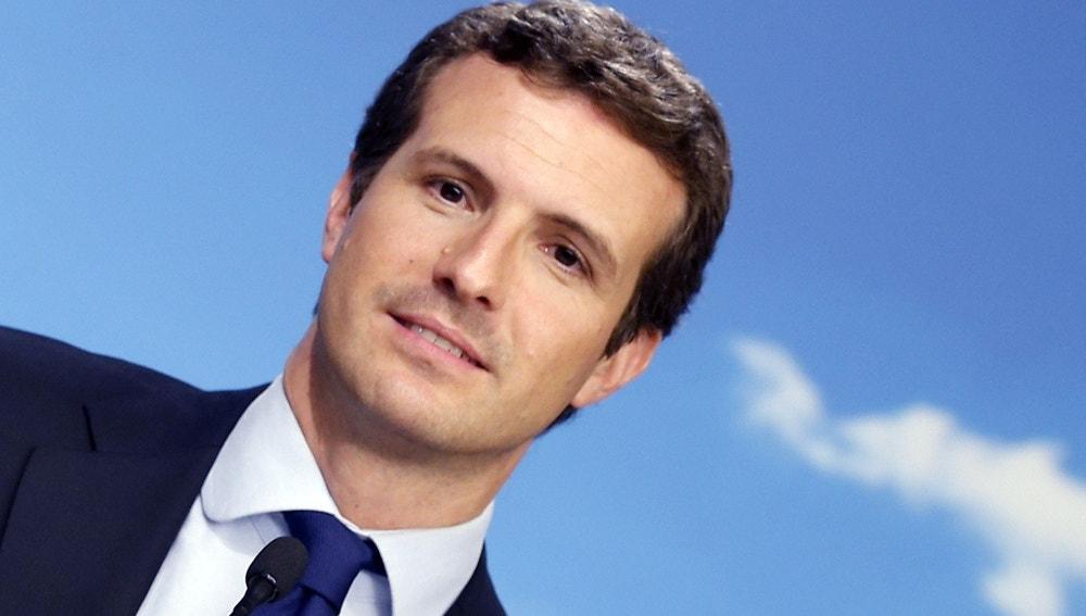 El candidato del Partido Popular a la presidencia del Gobierno, Pablo Casado