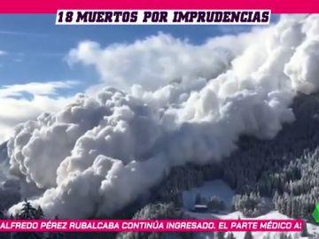 Duro informe sobre las avalanchas en invierno: 18 muertes en los Alpes e imprudencias