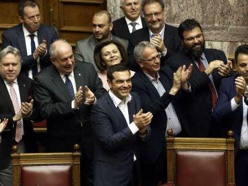 Alexis Tsipras en el parlamento griego