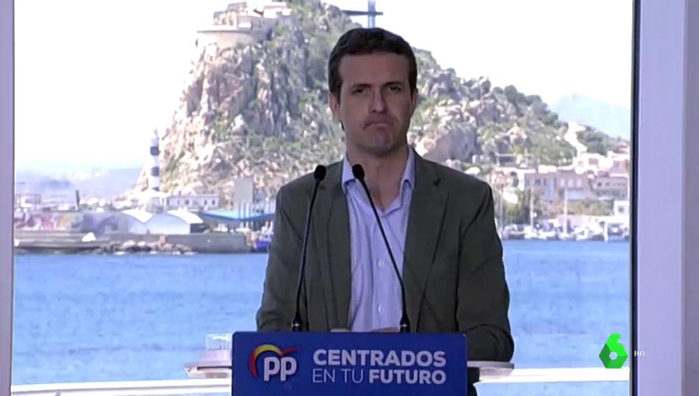 """Casado: """"Ciudadanos dice que pactará con el PSOE en algunas ciudades donde el presidente no sea muy de Sánchez"""""""