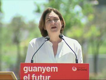 Ada Colau en un acto en Barcelona